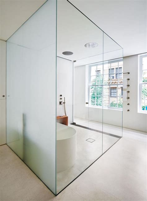 how to see through bathroom glass 8 best images about glass bathroom design on pinterest