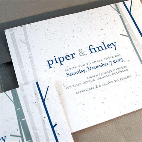 seed paper wedding invitation kits birch plantable wedding invitation plantable wedding