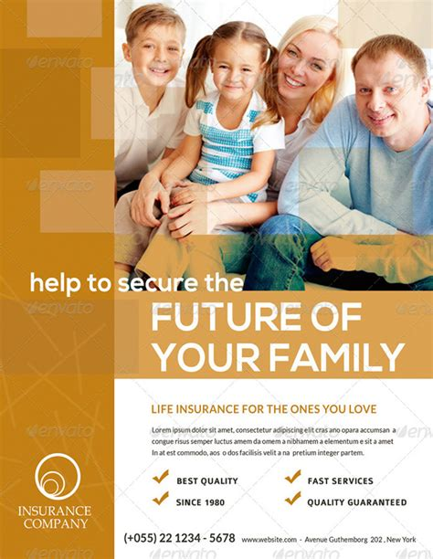 15 Printable Insurance Flyer Templates Insurance Flyer Templates