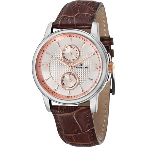 Swiss Army Doubleclock Lightbrown earnshaw flinders multifunctional es 8026 04