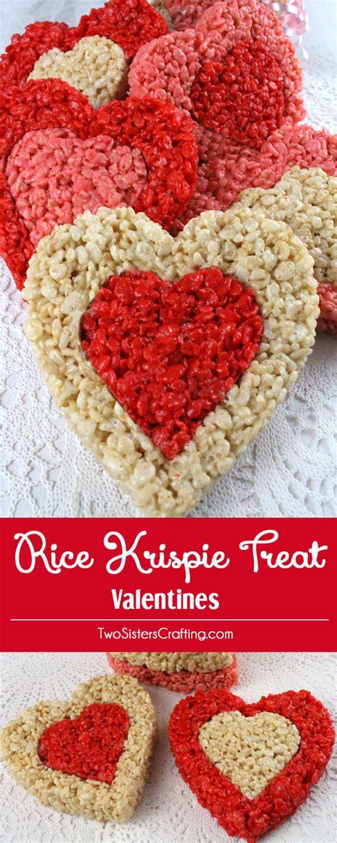 valentines day rice krispie treats rice krispie treat valentines two