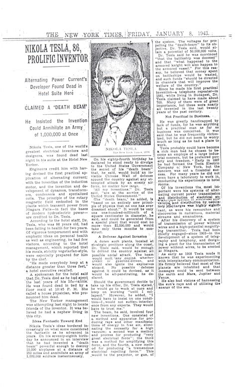 Tesla New York Times Tesla Posters