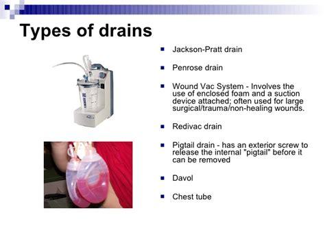 surgical drain fluid color sutures drainage