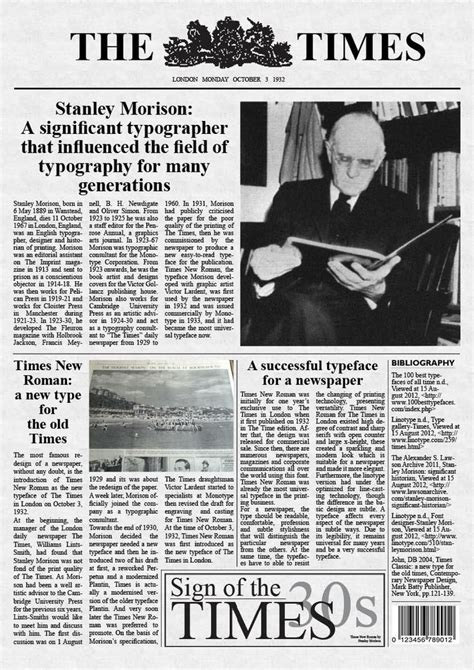 Times New stanley morison a significance typographer times new