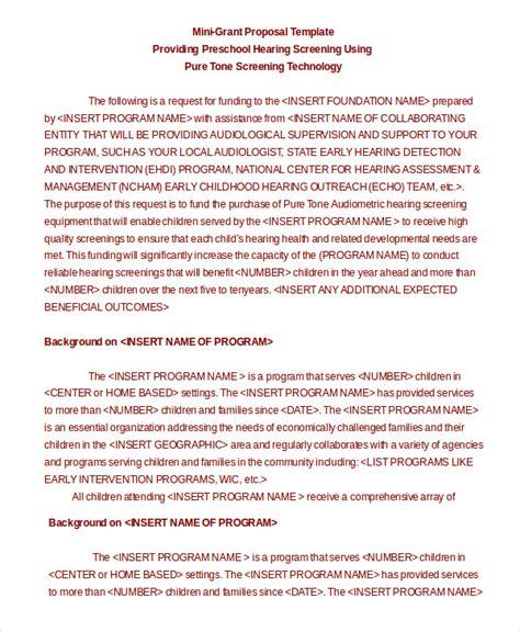 format proposal mini grant proposal template 10 free word pdf documents