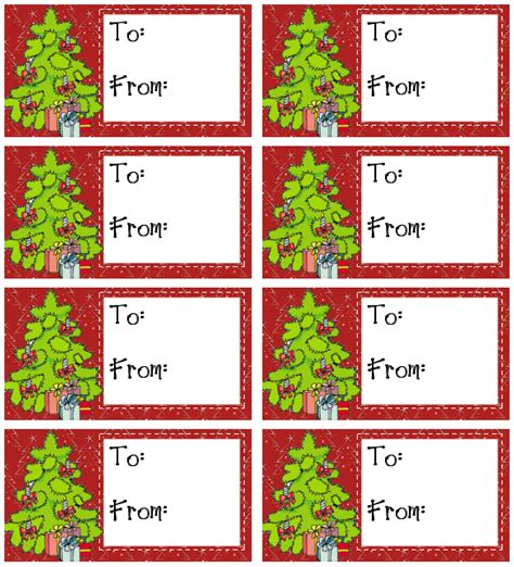 Christmas Gift Tag Templates Printable New Calendar Present Labels Templates