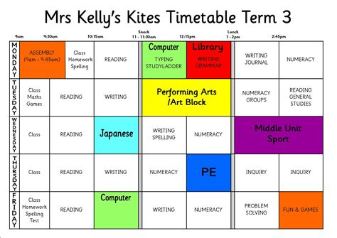 bench 3 times a week kites weekly timetable kites home