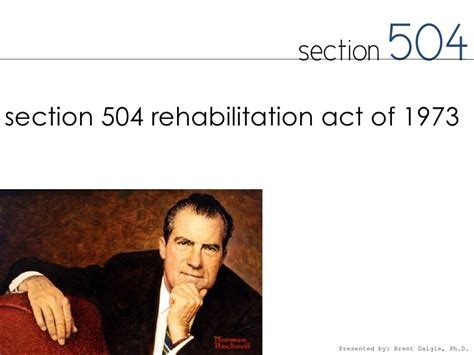rehabilitation act of 1973 section 504 special education history qualification and services