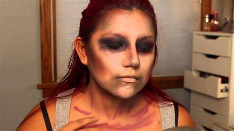 simple zombie makeup tutorial easy zombie tutorial simple halloween makeup youtube