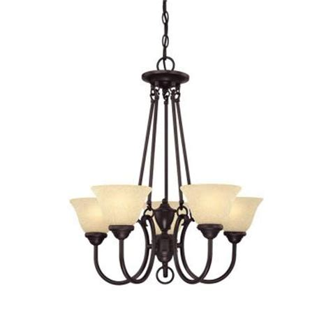 Chandelier Home Depot by Westinghouse 5 Light Bronze Chandelier 6222300 The Home Depot