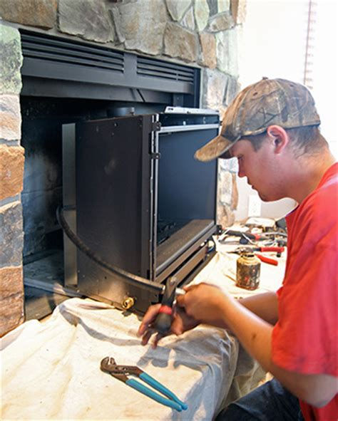 Installing Gas Insert Into Existing Fireplace by Gas Burning Fireplace Inserts Gas Fireplace Insert