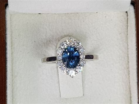 Blue Sapphire 5 11 Ct sapphire ring cocktail and blue sapphire