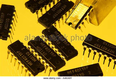 gold from integrated circuits chips cmos stock photos cmos stock images alamy