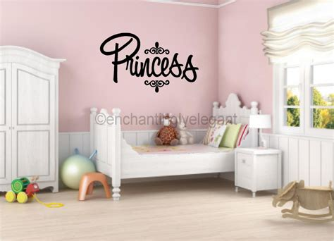 baby room wall decor princess vinyl decal wall sticker words lettering nursery baby room decor ebay