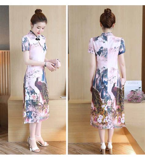 Dress Shanghai Imlek Baru by Dress Cheongsam Imlek Lengan Pendek 2018 Model Terbaru