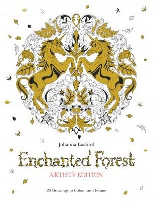 secret garden colouring book target enchanted forest artist s edition 20 drawings to color
