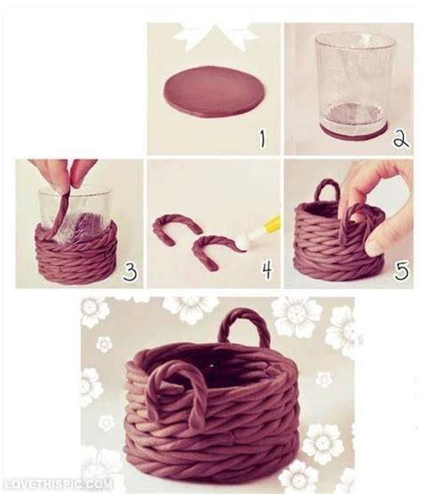 Handmade Creative Ideas - diy clay basket decor creative diy craft handmade diy
