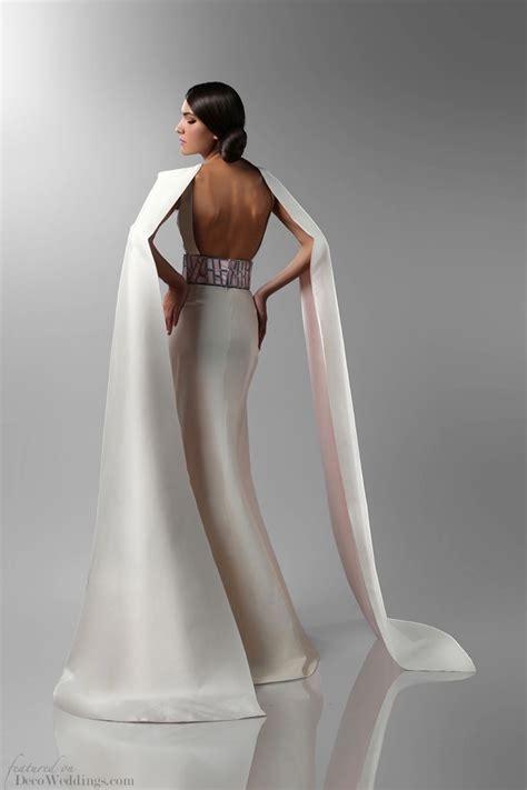 Art Deco Wedding Gowns || Isabel Zapardiez Modern Flapper Hair