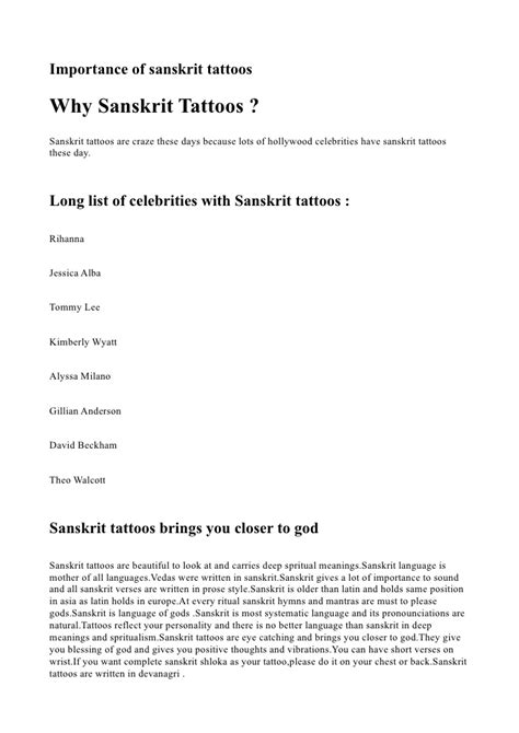 tattoo list and meaning sanskrit tattoos meanings