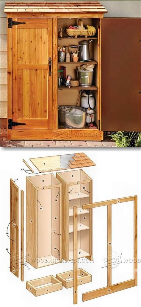 outdoor storage ideas  pinterest backyard