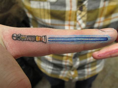 lightsaber tattoos 21 attractive sword finger tattoos