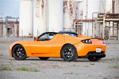 orange tesla roadster orange tesla sports car 1 widescreen wallpaper