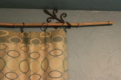 bamboo shower curtain rod diy bamboo curtain rod home pinterest curtain rods