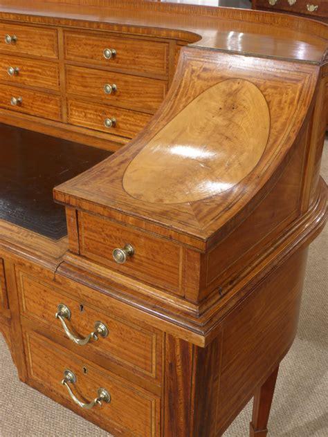 Hakes Furniture by Carlton House Desk Antique Satinwood Desk Edwardian Desk