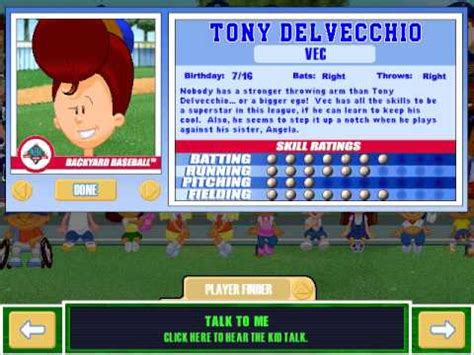 play backyard baseball 2003 let s play backyard baseball 2003 meet the characters