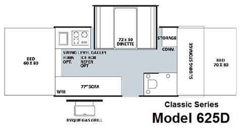 tent trailer floor plans roaming times rv news and overviews