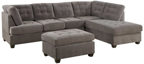 grey sectionals 3 discount gray microfiber sectional sofa set with