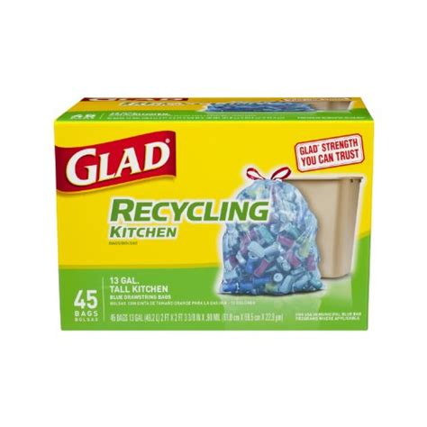 Kitchen Garbage Bags by Glad Kitchen Drawstring Recycling Trash Bags Blue