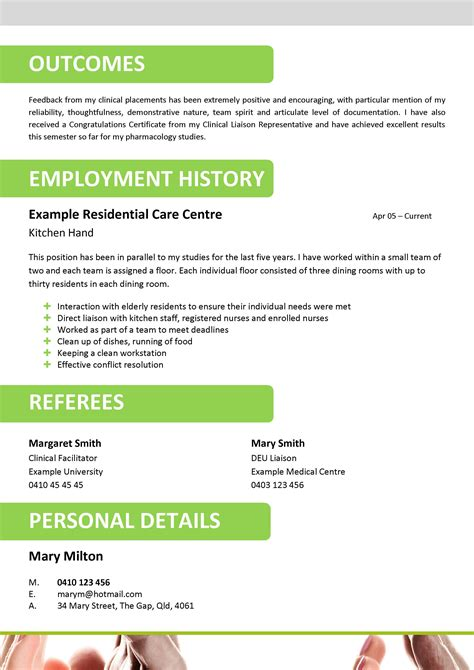 aged care resume template 023