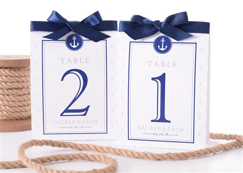 nautical table numbers nautical anchors wedding table numbers labelsrus