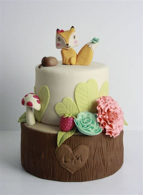 woodland themed baby shower cake 17 best ideas about fox cake on fondant