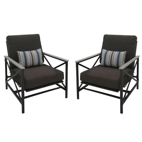 motion patio chairs shop garden treasures set of 2 arrowhead springs gray