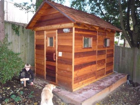backyard sauna plans outdoor saunas kits