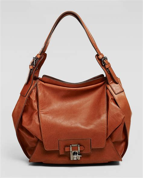 Neiman Sale Continues With Goods From Marc Kooba Tracy 2 by Kooba Valerie Flapfront Hobo Bag Cinnamon In Brown