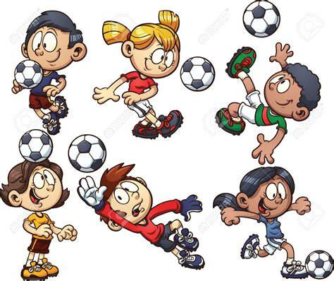 hombre de dibujos animados jugar futbol vector de stock dibujos animados futbolistas hombres y mujeres con los