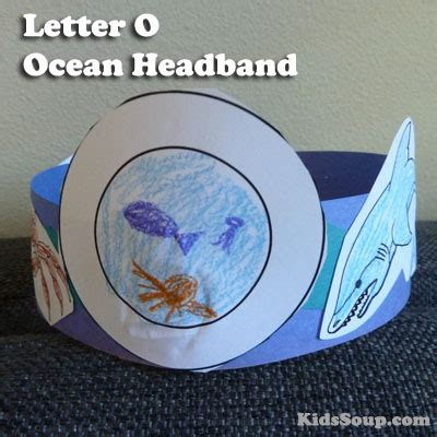 printable alphabet headbands o for ocean headband and activity kidssoup