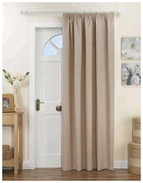 lined door panel curtains door curtain panel thermal thick heavy natural beige