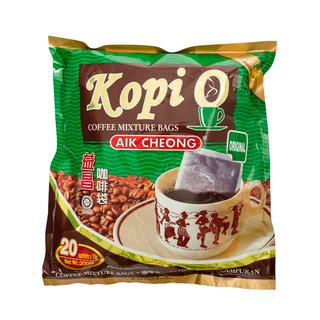aikcheong kopi o strong aik cheong kopi o coffee bag original 20s x 10g fairprice