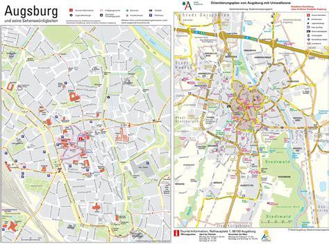 sightseeing map augsburg sightseeing map