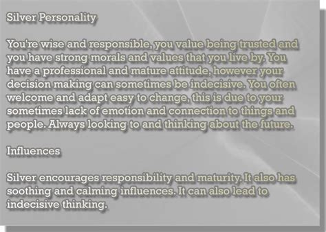 silver color meaning color silver personality meaning color psychology