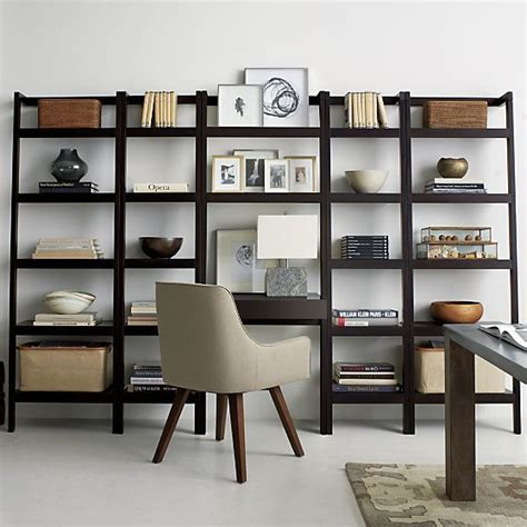 crate and barrel bookcase desk wall ideas bookcases and desks on pinterest