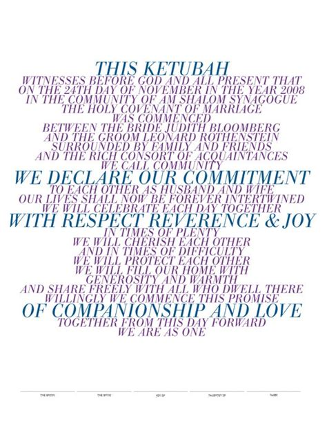 sle of vows 17 best images about wedding ketubah designs on