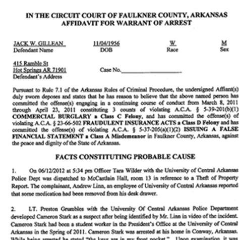 Fayetteville Warrant Search Affidavit For Warrant Of Arrest Gillean Nwaonline