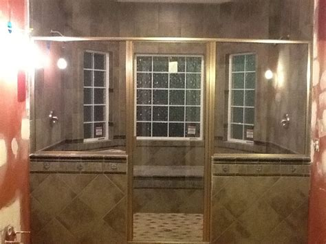 this is our new two person walk in shower bathroom remodel pinterest