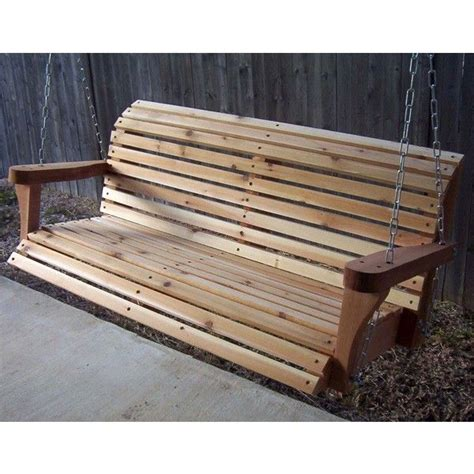 covered swing bench tmp outdoor furniture red cedar swing bench with rolled