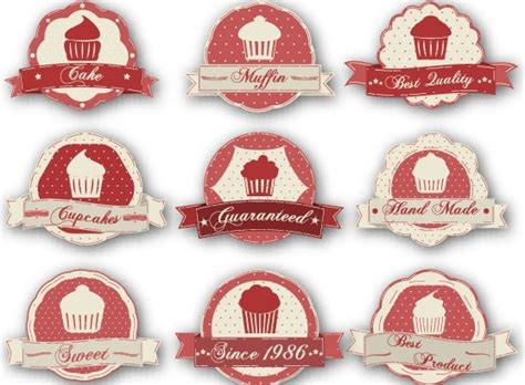 design label cake cake labels vintage style vector free vector in